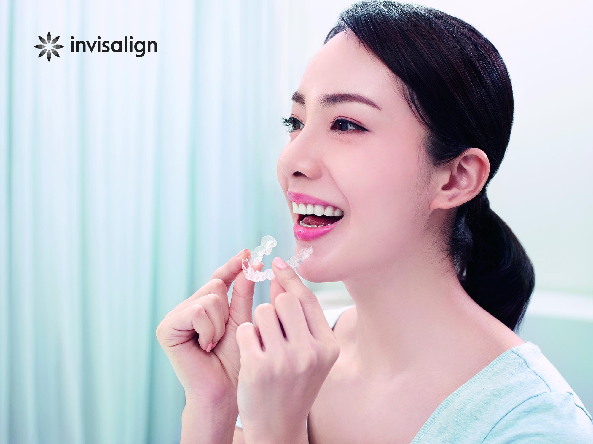 インビザライン装着イメージ 平野歯科クリニック